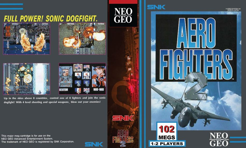Aero Fighters 2 / Sonic Wings 2 JR Box