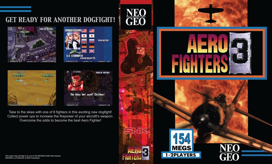 Aero Fighters 3 / Sonic Wings 3 JR Box