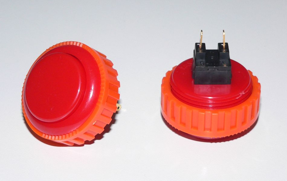 Sanwa Pushbutton 30mm - Red (Screw Back)