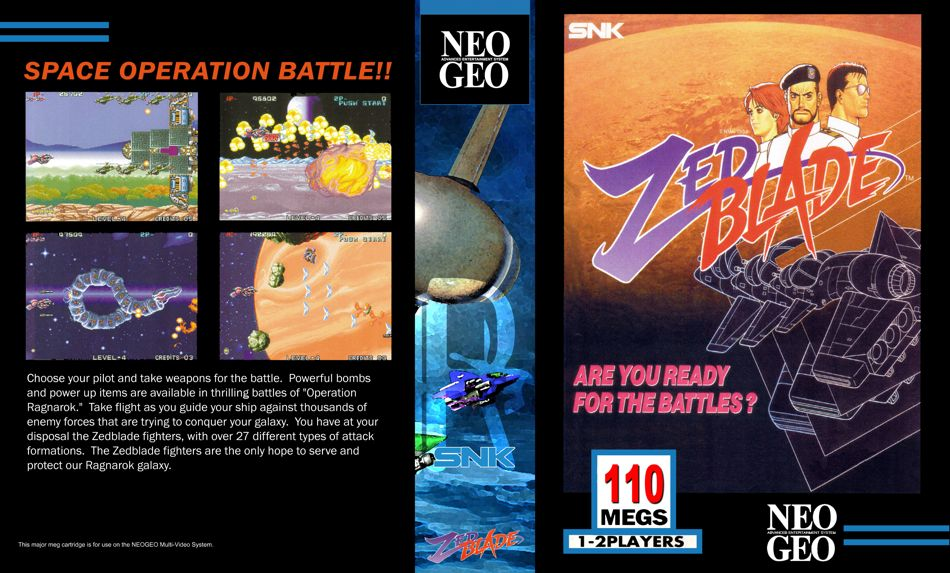 Les Exclu. Neo Geo MVS ZedBladeJRBox