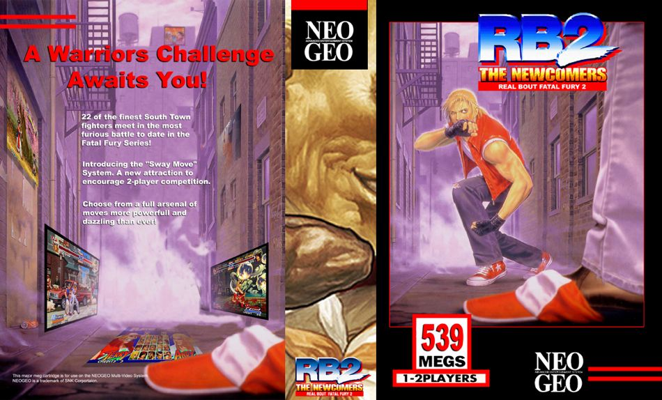 Real Bout Fatal Fury 2 JR Box
