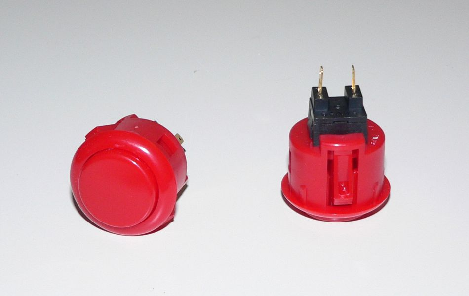Sanwa Small (24mm) Pushbutton - Red