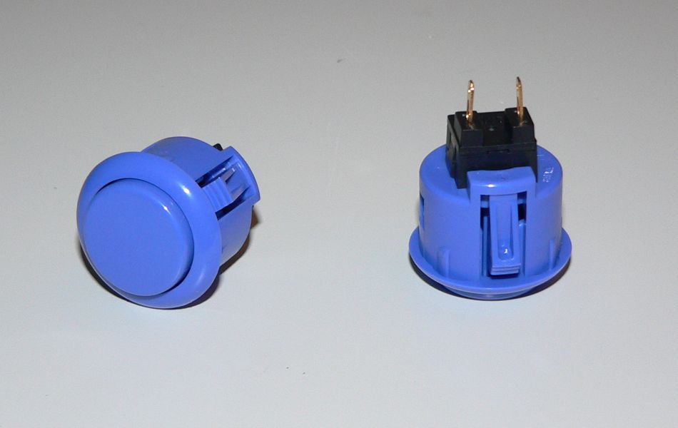 Sanwa Small (24mm) Pushbutton - Dark Blue
