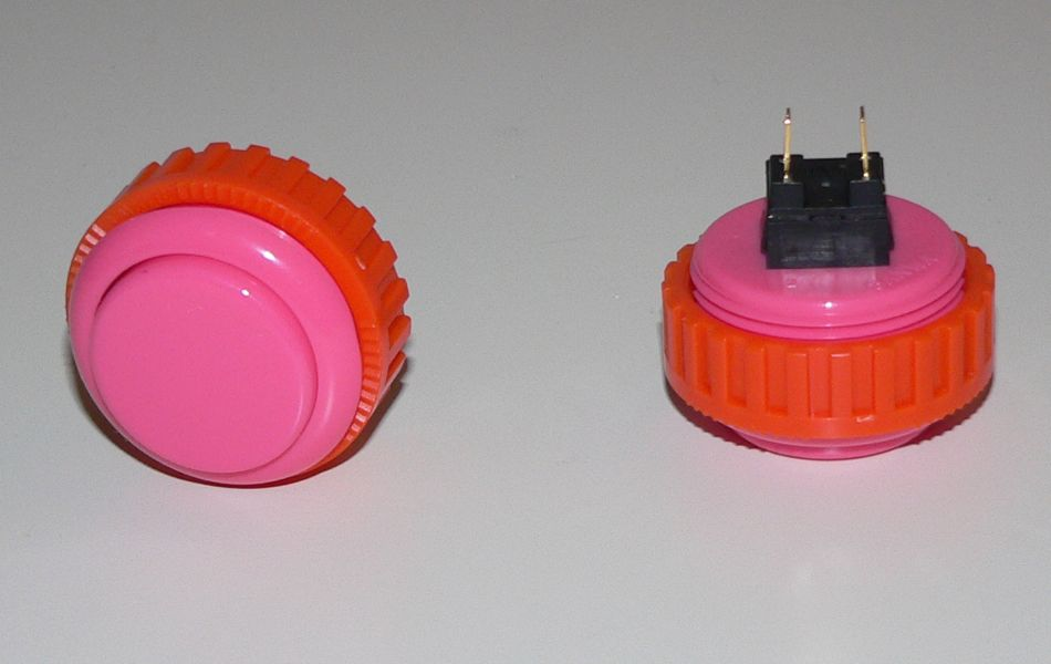 Sanwa Pushbutton 30mm - Pink (Screw Back)