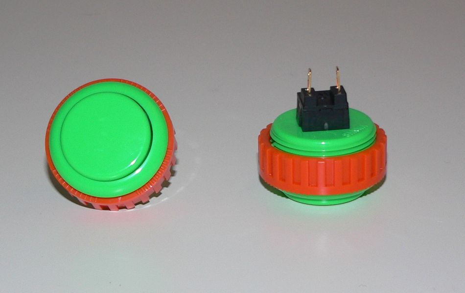 Sanwa Pushbutton 30mm - Green (Screw Back)