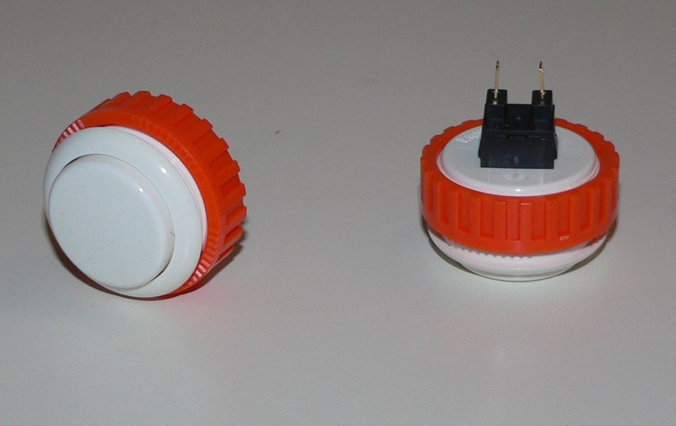 Sanwa Pushbutton 30mm - White (Screw Back)