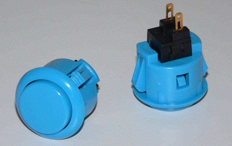 Sanwa Small (24mm) Pushbutton - Blue