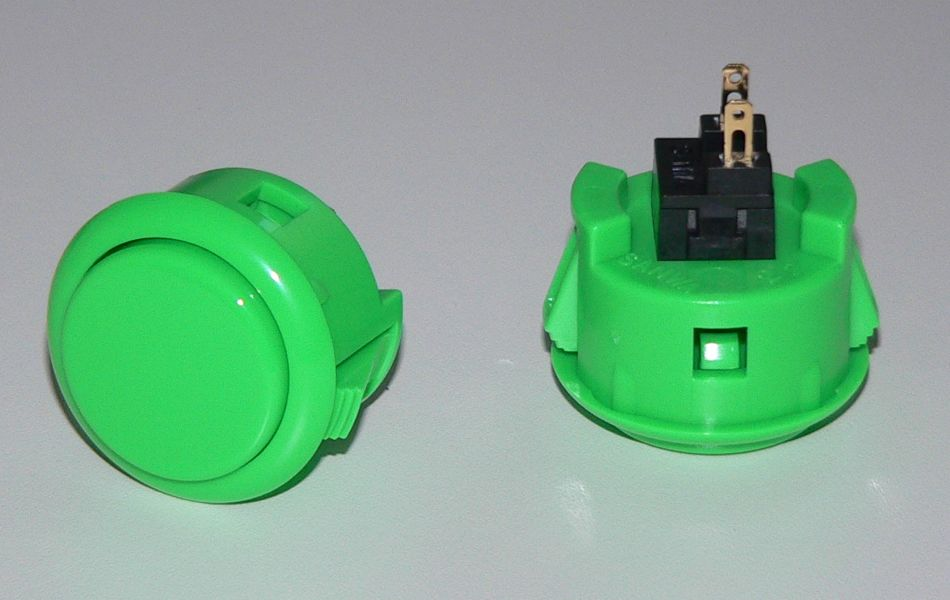 Sanwa Pushbutton 30mm - Green