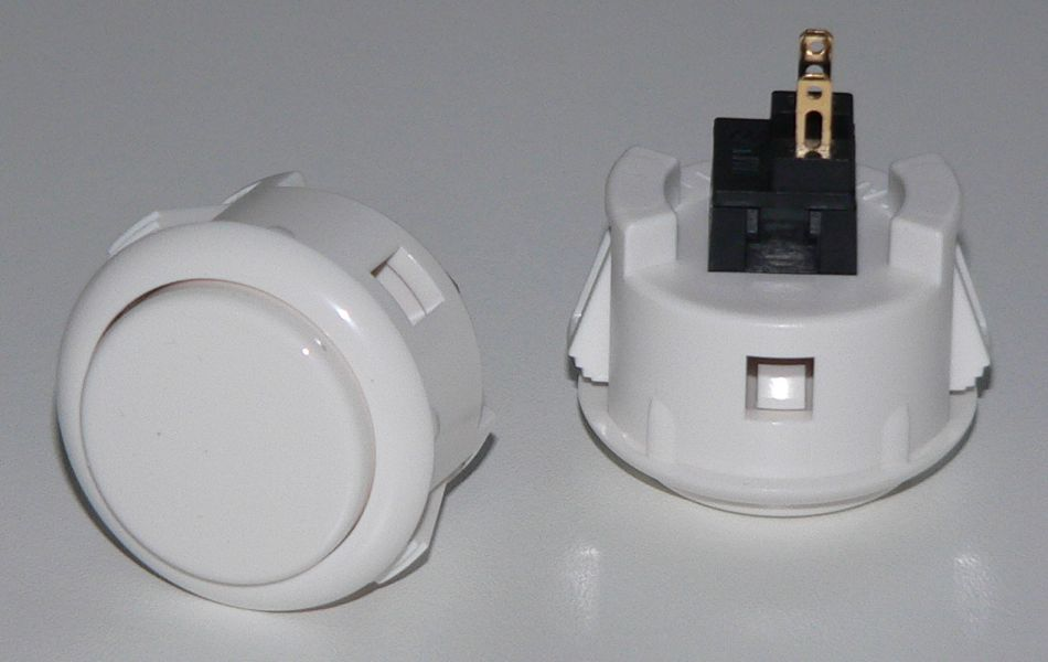 Sanwa Pushbutton 30mm - White