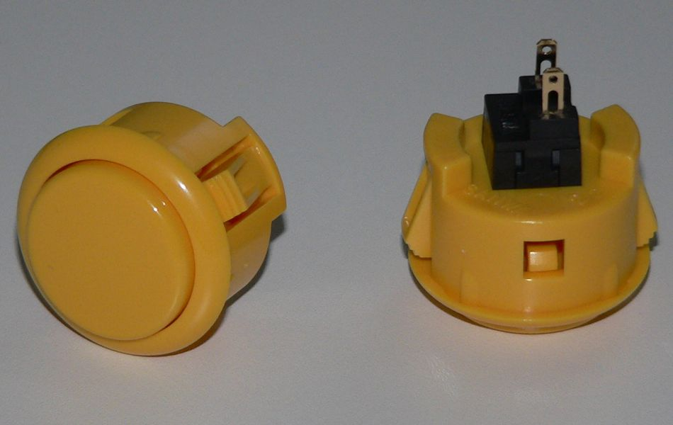 Sanwa Pushbutton 30mm - Yellow