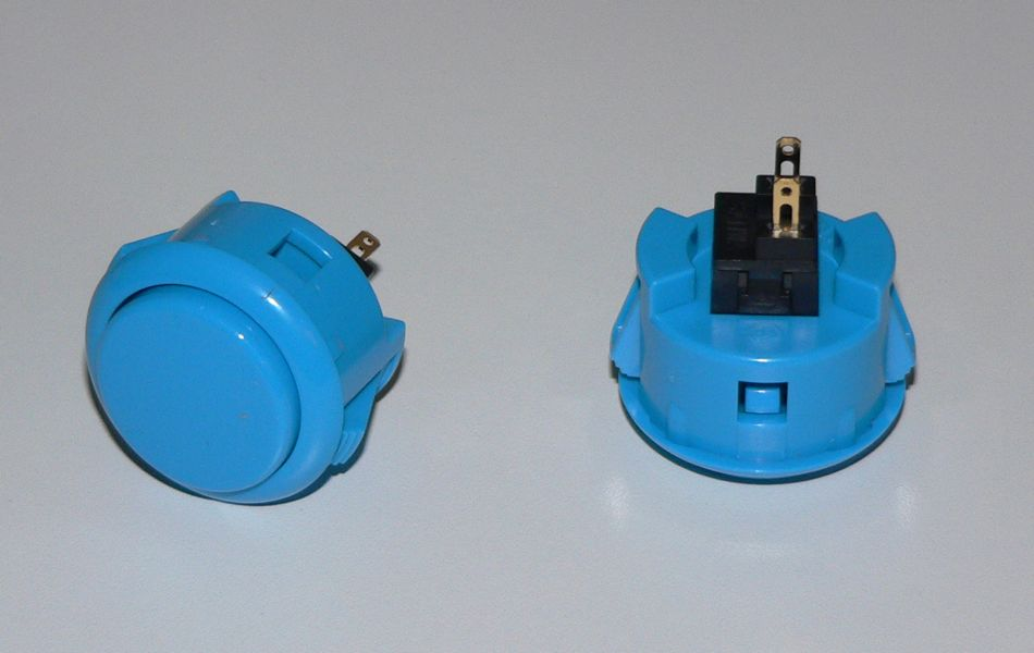 Sanwa Pushbutton 30mm - Blue