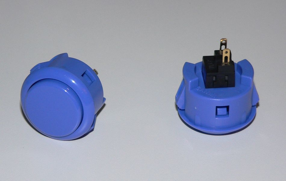 Sanwa Pushbutton 30mm - Dark Blue