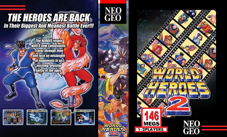 World Heroes 2 JR Box